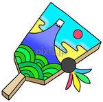 年賀状用画像 - 羽子板