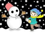 冬イメージ - 雪だるま