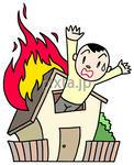 低価格商用イラスト「事故・災害に注意!!」