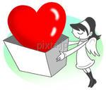 低価格商用イラスト「バレンタインデー - プレゼント」
