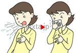 インフルエンザ予防・画像データ販売 「咳・くしゃみのエチケット」