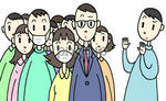 集団感染に注意・混雑を避ける