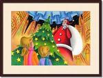 クリスマスイラスト - 大きなサンタとクリスマスツリー
