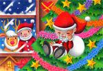 クリスマスツリー・サンタクロース