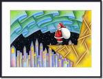 クリスマスイラスト - オーロラの聖夜
