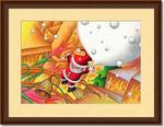 クリスマスイラスト - 舞い降りたサンタ