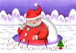 サンタクロース・雪・聖夜
