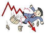 株価下落、株価急落