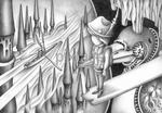 アート作品・鉛筆画 - 幻想旅行