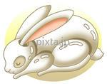 画像データ販売 「2011年・年賀状用素材 - ウサギの置物」