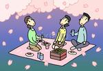 夜桜・夜桜見物・お花見弁当・花見酒・宴会