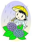 入梅・ 梅雨・梅雨入り・紫陽花・雨・雨傘