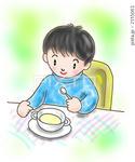子供・男の子・男子・児童・朝食・食事