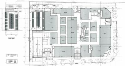 東街区商業施設1・2階フロア図