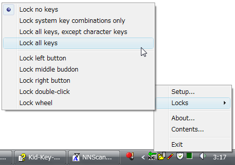 Kid key lock