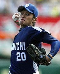 中田、猛虎斬り 完封返しだ勝ち越しだ!!(c)中日スポーツ