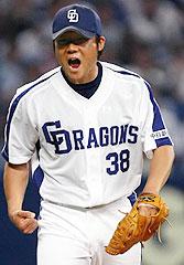 吠えた斉藤 7回1死満塁ピンチ救った:中スポ