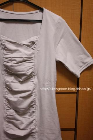 せシール 汗じみ防止シャーリングTシャツ(5分袖)