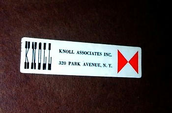Knoll Associates Label