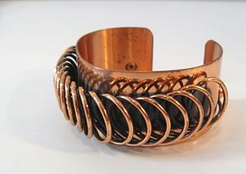 Vintage Copper  Rnoir Cuff Bracelet