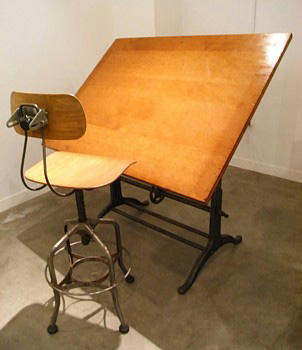 Vintage Industrial Drafting Table