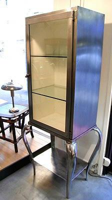 Vintage Steel Medical / Display Cabinet
