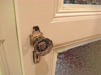 Antique Glass Doorknob アンティーク ガラス ドアノブ