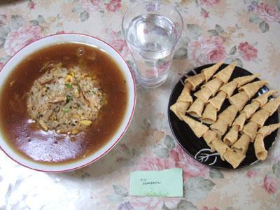 パンツレスリング定食(サラダ抜き)