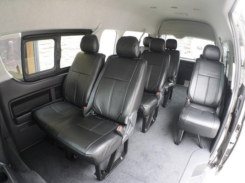 4型ハイエース用 シートカバー ブラック