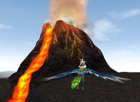 溶岩ドロドロ。熱そう!