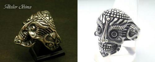 Tibetan Monk Skull Ring