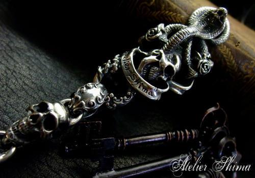 Cobra & Skull Key Chain (コブラ&スカルキーチェーン)
