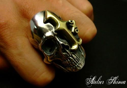 とあるMCメンバーからオーダーされた1%er Skull Ring