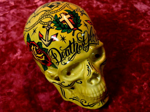 GRIMB krazy painting グリムさんにお願いしたSkull 前頭部には十字架!!