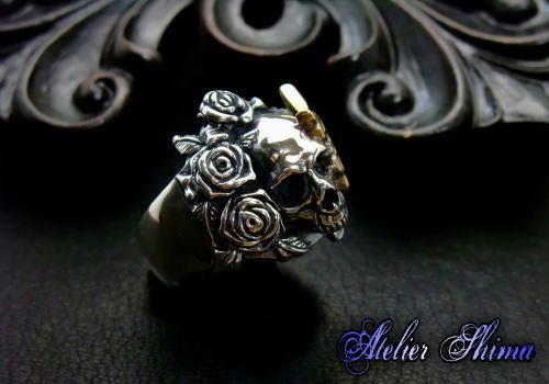 アトリエシマ 薔薇 髑髏