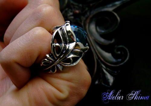 ブルートパーズ 指輪