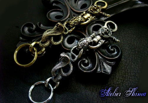 Skull Clip With Cobra Key Chain