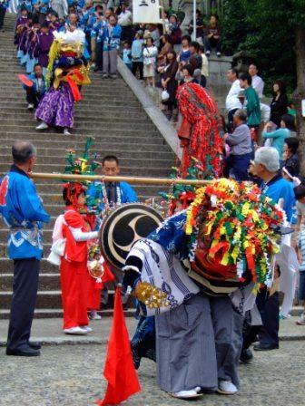 八幡山八幡神社 秋まつり 獅子舞
