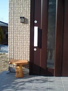 我が家の玄関先