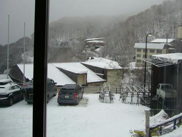 1年前の雪山