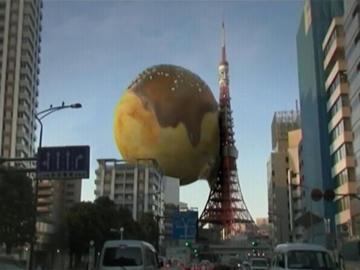 東京タワーを襲う巨大たこ焼き