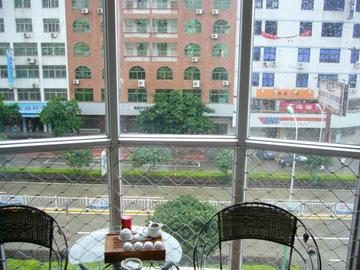 莆田のホテル窓の外