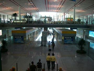 北京空港無料列車乗り場
