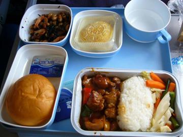 CA421便の機内食