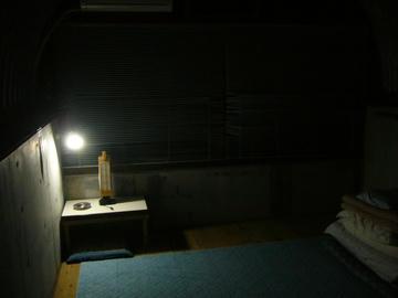 ライダーズイン室戸・部屋(夜)