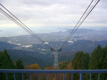 雲辺寺山山頂より見下ろす景色