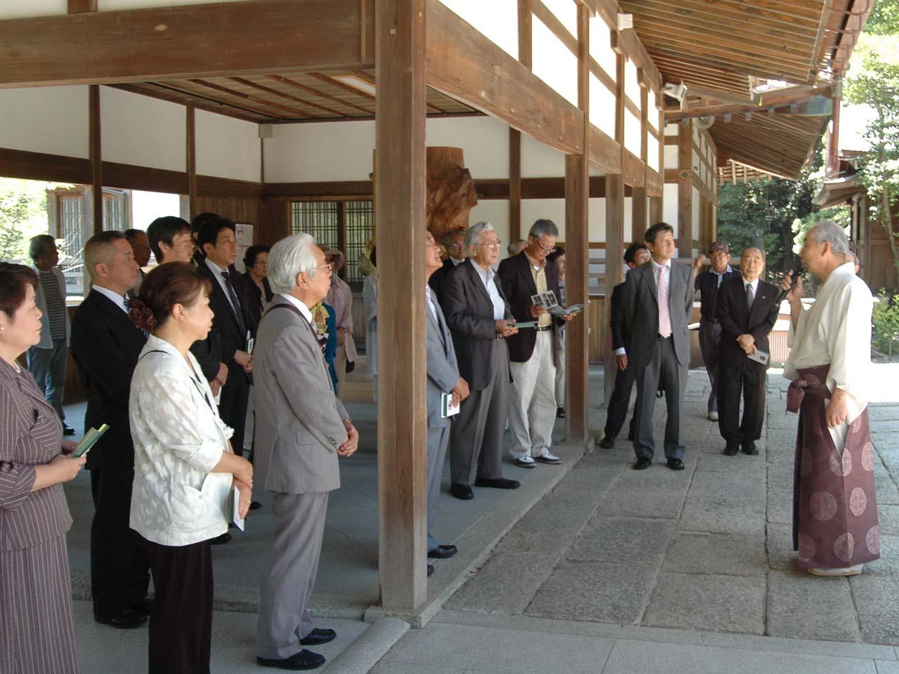 京都市上支部神社総代会参拝