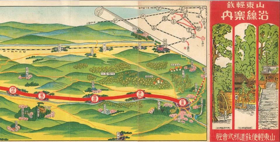 山東軽便鉄道路線図