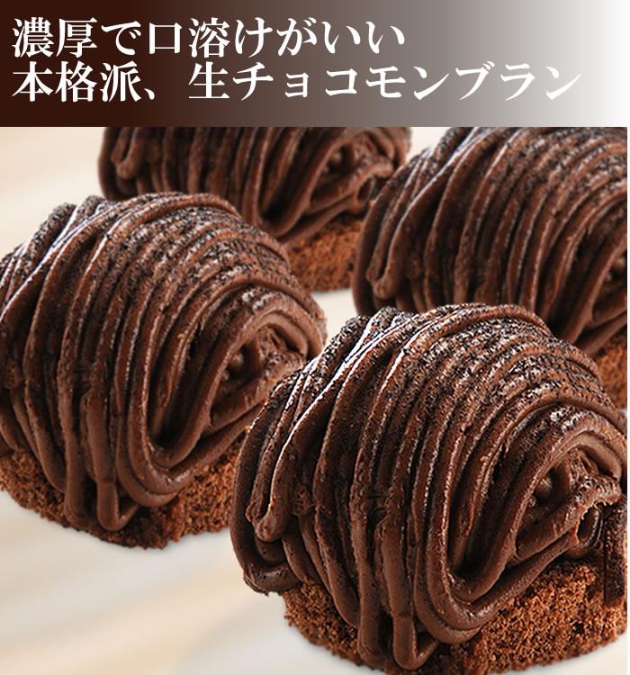 人気の生チョコ使用☆生チョコモンブラン風ケーキ【8個】
