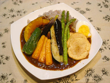 野菜の素揚げカレー